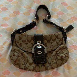 Coach print shoulder bag
